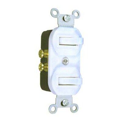 Morris Products 15A-120/277V Single Pole Double Switch in White