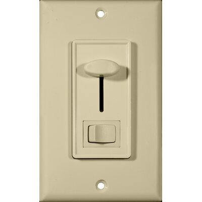 Morris Products Slide 3-Way Dimmer with Switch in Ivory