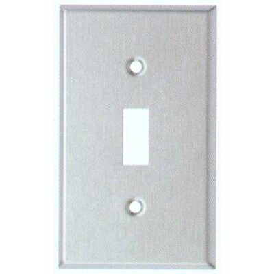 Morris Products Gang and Toggle Switch Metal Wall Plates in Stainless