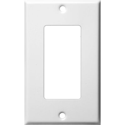 Morris Products Gang Decorator and GFCI Metal Wall Plates in White
