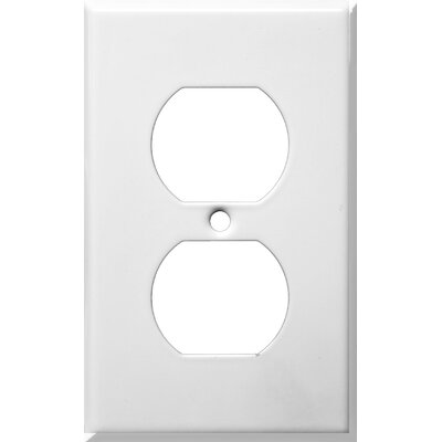Morris Products Gang and Duplex Receptacle Metal Wall Plates in White