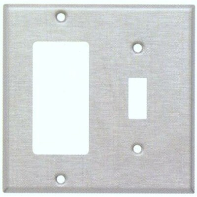 Morris Products Two Gang / Toggle and GFCI Metal Wall Plates in Stainless
