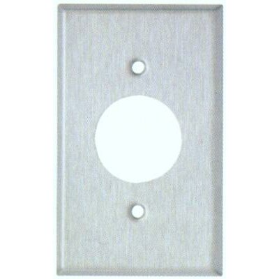 "Morris Products 1.62"" Gang Single Receptacle Metal Wall Plates in Stainless"