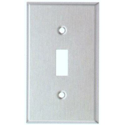Morris Products Midsize 1 Gang Stainless Steel Metal Wall Plates Toggle Switch