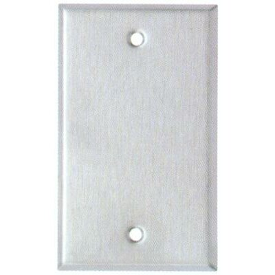 Morris Products Oversize Blank 1 Gang Stainless Steel Metal Wall Plates