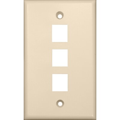 Morris Products Three Port Wall Plate in Light Almond