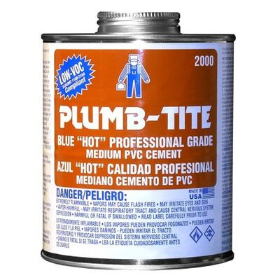 Morris Products Pint Plumb-Tite 2000 Wet Application Blue Cement