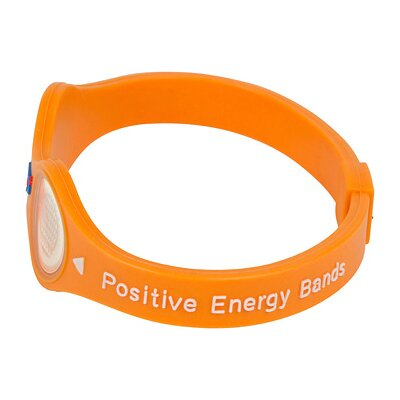 Positive Energy Bands Positive Energy Band in Orange with Gold Hologram