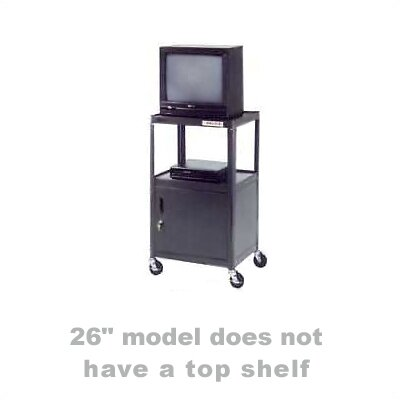 "Da-Lite Pixmate 18"" x 24"" Shelf Standard Cabinet Television Cart [26"", 34"", 42"" Heights]"