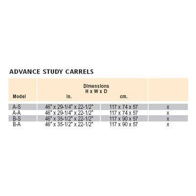 Da-Lite Beta Particle Board Study Carrel Add On