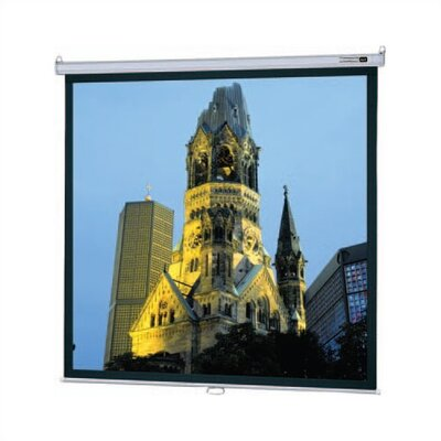 "Da-Lite Matte White Model B Manual Screen with CSR - 84"" x 84"" AV Format"