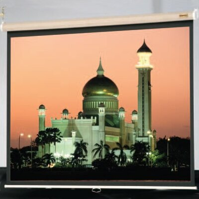 "Da-Lite Matte White Designer Model B with Fabric Case in Frost Gray - 84"" x 84"" AV Format"