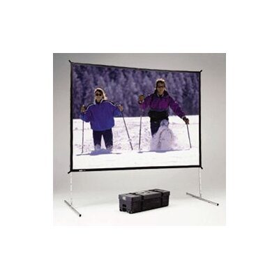 "Da-Lite Dual Vision Fast Fold Deluxe Complete Front and Rear Projection Screen - 115"" x 115"""