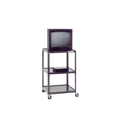 "Da-Lite Pixmate 25"" x 30"" Shelf Large Adjustable Height Television Cart [Up to 54"" Height]"