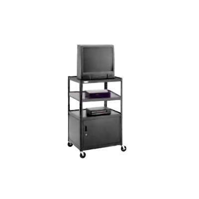 Da-Lite Pixmate Multi Shelf Television Cart with Cabinet