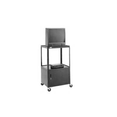 "Da-Lite Pixmobile 25"" x 30"" Shelf Height Adjustable Cart With Cabinet [32"" -54"" Height]"