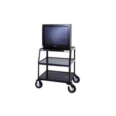 "Da-Lite Pixmate 24"" x 38"" Shelf Television Cart With 8"" Pneumatic Tires"