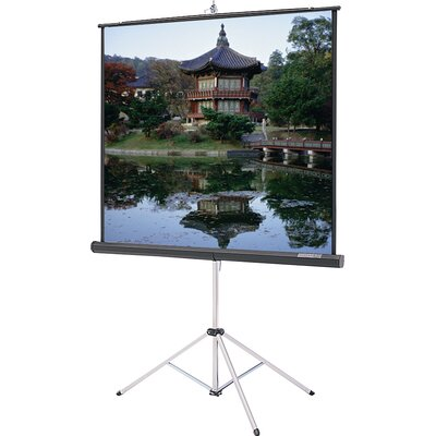 "Da-Lite Gray Carpeted Picture King With Keystone Eliminator Projection Screen - High Power - Gray - 69"" x 92"" Video Format"