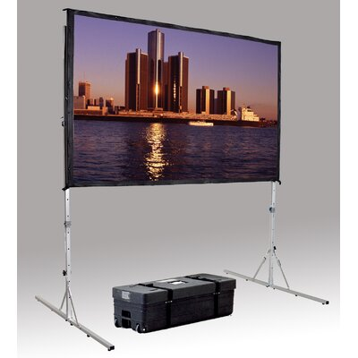 "Da-Lite Fast Fold Deluxe 3D Virtual Black Projection Screen - 108"" x 108"" 16:10 Wide Format"