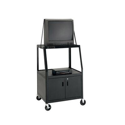 "Da-Lite Pixmobile 24"" x 38"" Shelf Video Cart With 8"" Pneumatic Tires [44"" Height]"