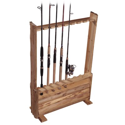 Rush Creek Hanging / Standing 8 Fishing Rod Rack with Single Cabinet