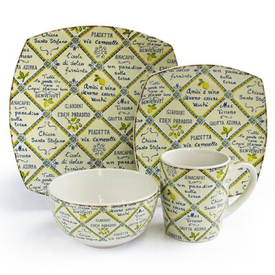 Piastrelle 16 Piece Dinnerware Set