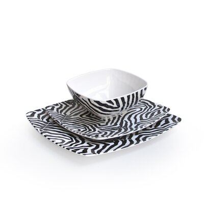 Waverly Wildlife 12 Piece Dinnerware Set