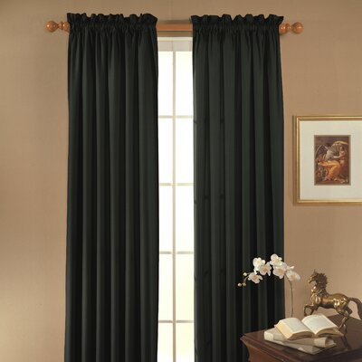 Eclipse Curtains Clark Blackout Rod Pocket Window Curtain Single Panel