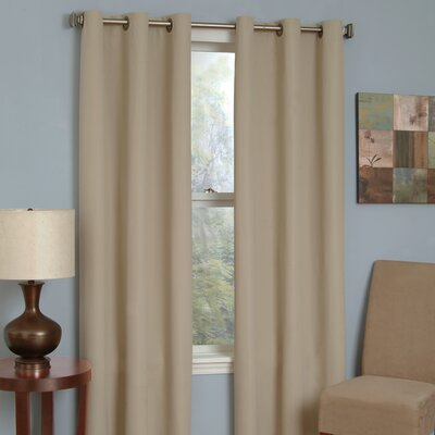 Eclipse Curtains Microfiber Grommet Blackout Window Panel in Beige