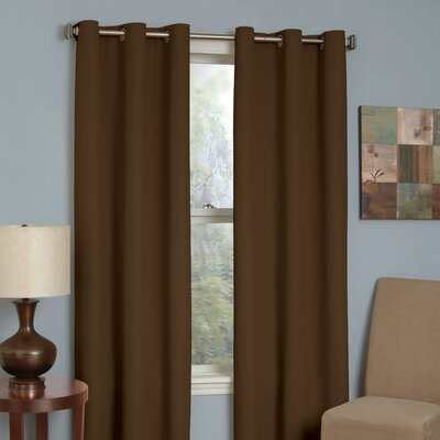 Eclipse Curtains Microfiber Grommet Blackout Window Curtain Single Panel