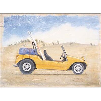 Yellow Beach Buggy Wall Art