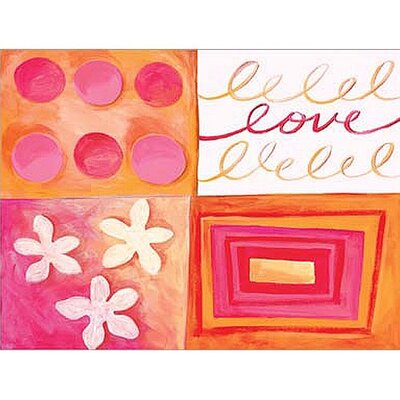Art 4 Kids Cool Love Orange Wall Art