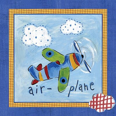 Art 4 Kids Go Man Go   Airplane Wall Art