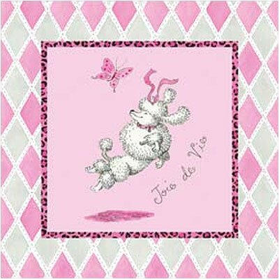 Art 4 Kids Joie de Vie Poodle Dog Wall Art