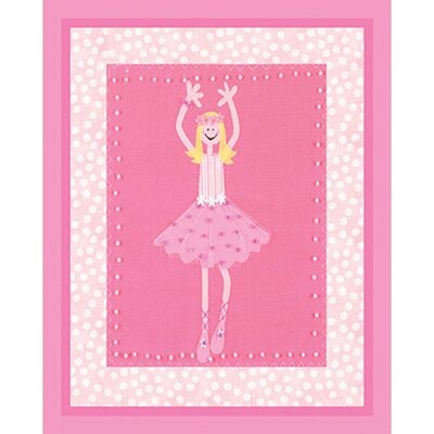 Candy Pink Ballerina Wall Art