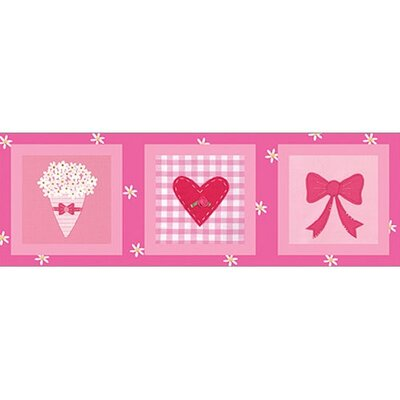 Art 4 Kids Candy Pink Flowers & Bows Wall Art