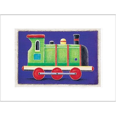 Green Steam Engine Wall Art