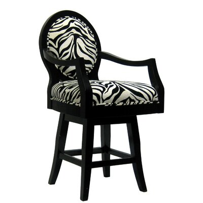 Royal Manufacturing Inc. Black Frame Zebra Barstool (Short)