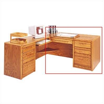 Martin Home Furnishings Contemporary L-Shape Executive Desk (Left)