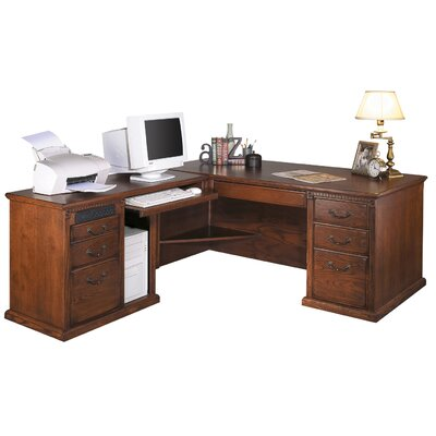 Martin Home Furnishings Huntington Oxford Left-Hand L-Shaped Desk