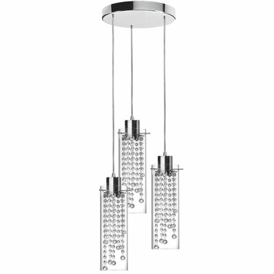 Dainolite 3 Light Crystal Pendant