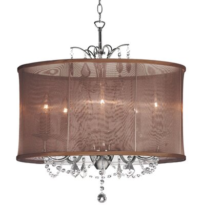 Dainolite Vanessa 5 Light Crystal Chandelier