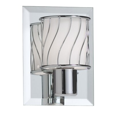 Dainolite 1 Light Wall Sconce with Frosted Glass Shade
