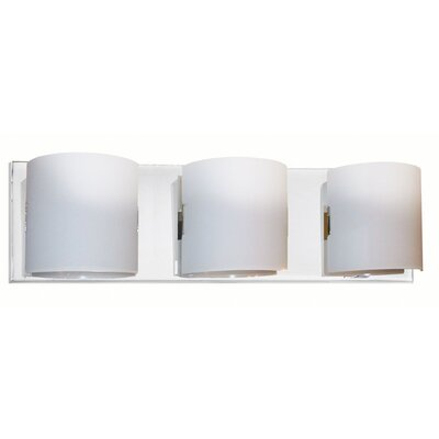Dainolite Frosted Glass 3 Light Bath Vanity Light