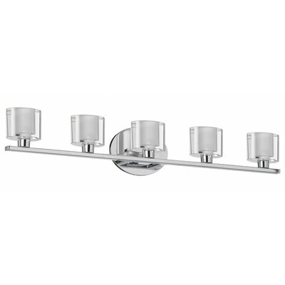 Dainolite Oval Glass 5 Light Bath Vanity Light