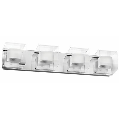 Dainolite Clear/Frosted Glass 4 Light Bath Vanity Light