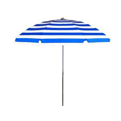7.5' Steel Marine Striped Patio Umbrella with Tilt