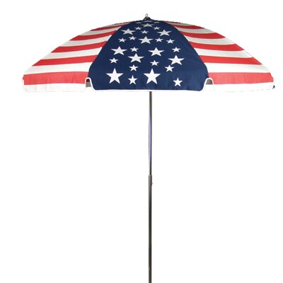 Frankford Umbrellas 7.5' Steel Marine American Flag Patio Umbrella