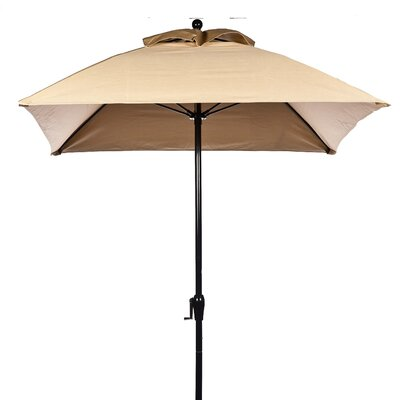 6.5' Square Fiberglass Crank-up Market Umbrella