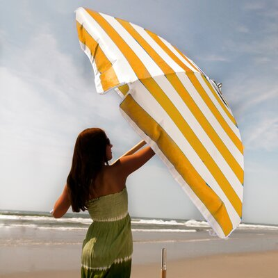 Frankford Umbrellas 7.5' Commercial Grade Striped Beach Umbrella